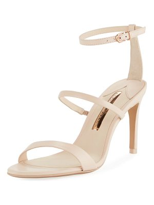 Sophia Webster Rosalind Strappy Leather Mid-Heel Sandals