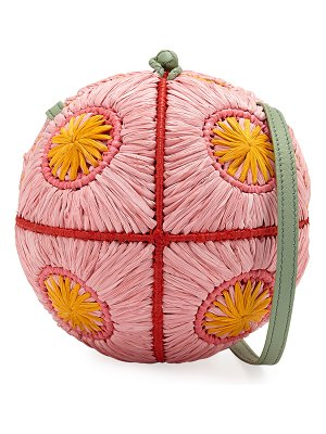 Sophie Anderson Saba Straw Sphere Crossbody Bag