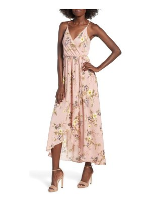 Soprano floral faux wrap midi dress