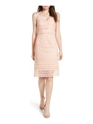 Soprano lace body-con midi dress