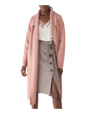 SOSKEN bella brushed knit duster coat