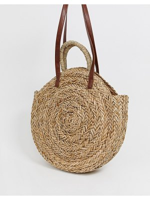 South Beach exclusive large round straw bag