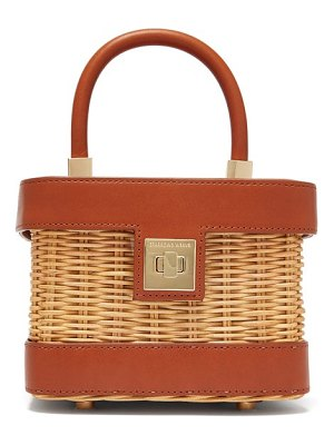 Sparrows Weave the cubist wicker and leather bag