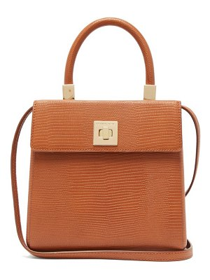 Sparrows Weave the classic lizard-embossed leather top-handle bag