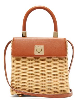 Sparrows Weave the classic wicker and leather top-handle bag