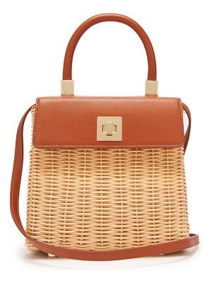 Sparrows Weave the classic wicker and leather top handle bag
