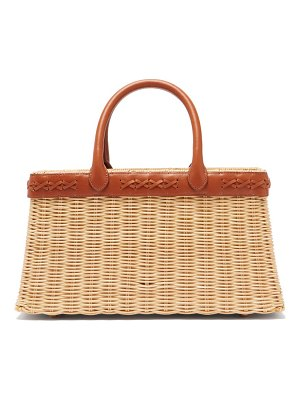 Sparrows Weave the tote wicker and leather basket bag