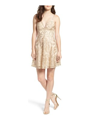 Speechless embroidered fit & flare dress