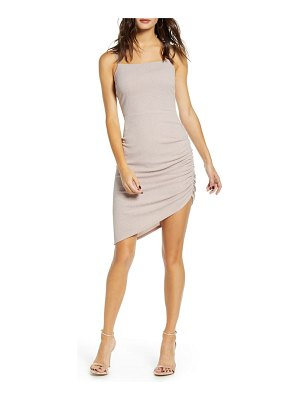 Speechless glitter ruched body-con dress