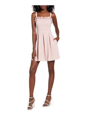 Speechless ruffle trim sleeveless minidress