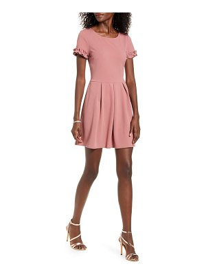Speechless ruffle trim minidress