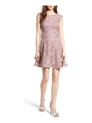 Speechless sequin lace fit & flare dress