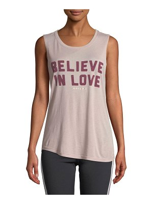 Spiritual Gangster Believe Love Scoop-Neck Graphic Muscle Tank