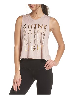 Spiritual Gangster shine crop tank top