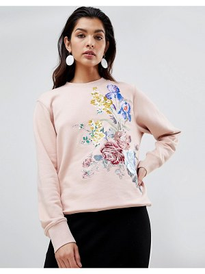 SPORTMAX CODE floral embroidered sweatshirt