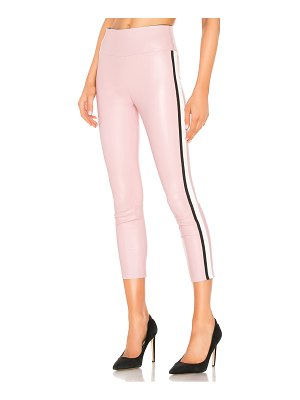 SPRWMN athletic stripe capri leather legging