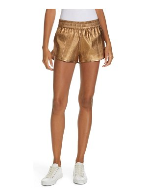 SPRWMN leather jogger shorts