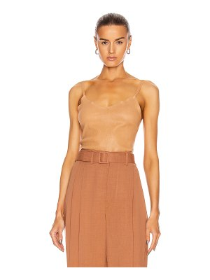 SPRWMN stretch leather cami