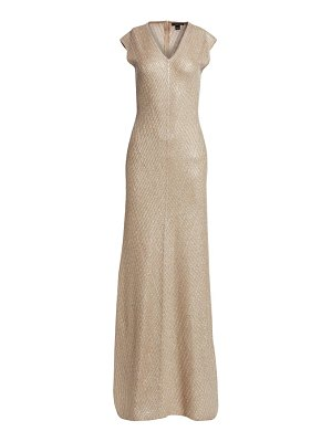 St. John brielle knit v-neck gown