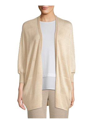 St. John degrade matte shine drop needle knit cardigan