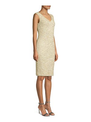 St. John gilded eyelash knit dress