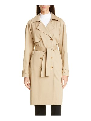 St. John luxe stretch twill trench coat