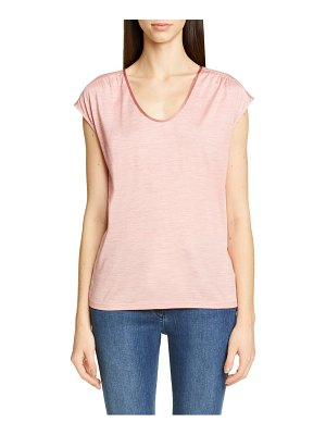 St. John scoop neck silk jersey tee