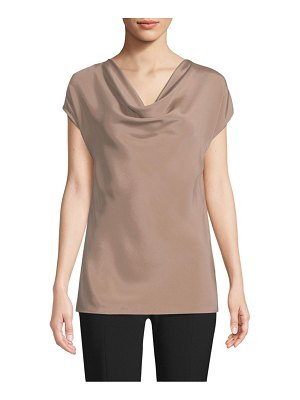 St. John stretch silk draped top