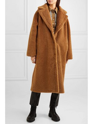 STAND maria cocoon oversized faux shearling coat