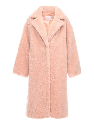 STAND Maria faux teddy long coat