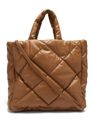 Stand Studio assante quilted faux-leather tote bag