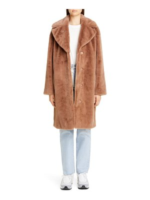 Stand Studio camille faux fur cocoon coat