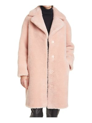 Stand Studio camille long faux fur cocoon coat