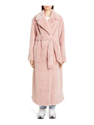 Stand Studio faustine long faux fur coat
