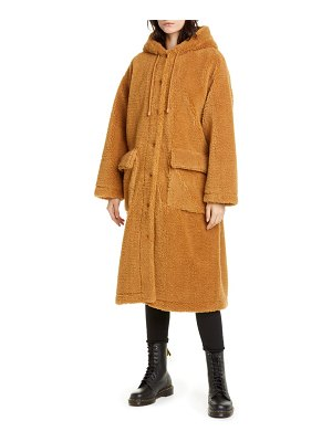 Stand Studio jessica teddy hooded faux fur coat