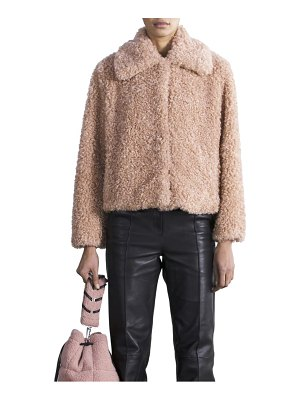 Stand Studio marcella short faux shearling coat