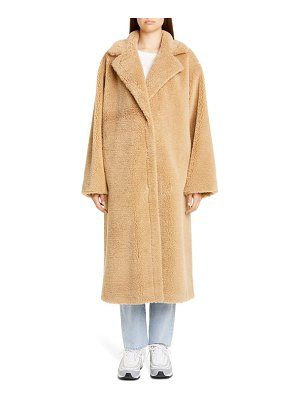 Stand Studio maria long teddy faux fur coat