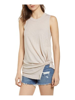 Stateside twist hem slub supima cotton tank