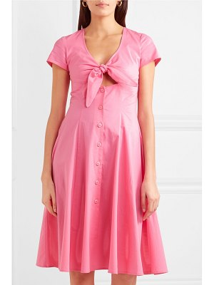 STAUD alice tie-front cotton-blend poplin dress