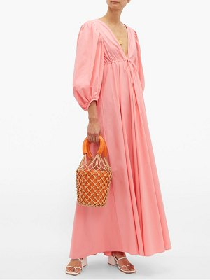 STAUD amaretti cotton poplin maxi dress