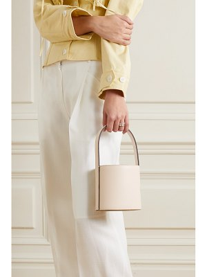 STAUD bissett mini leather bucket bag