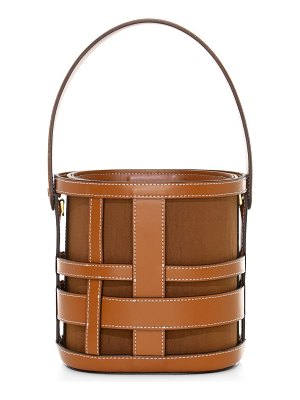 STAUD brody woven leather bucket bag
