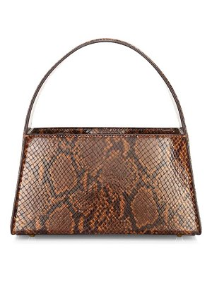 STAUD caroline snakeskin-embossed leather shoulder bag