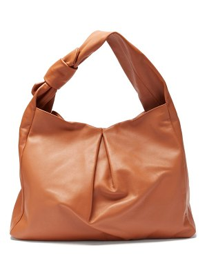 STAUD island large knotted leather tote bag