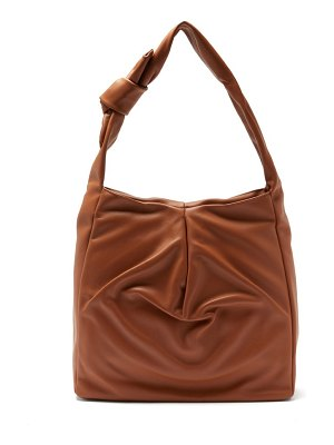 STAUD island small knotted leather tote bag