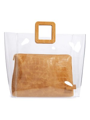 STAUD large shirley transparent handbag
