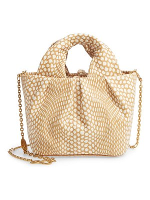 STAUD lera snake embossed leather top handle bag