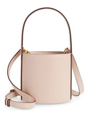 STAUD mini bissett leather bucket bag