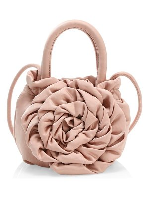 STAUD rose satin top handle bag
