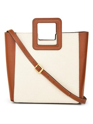 STAUD shirley canvas & leather tote